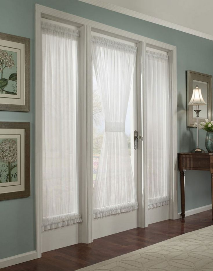 curtains for french doors ideas. Also, love this style door leading out to a patio off the kitchen.