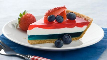 JELL-O Easy Patriotic Pie: Patriots Pies, Patriots Desserts, Fourth Of July, Pies Recipes, Summer Desserts, Red White Blue, 4Th Of July, Jell O' Easy, Easy Patriots