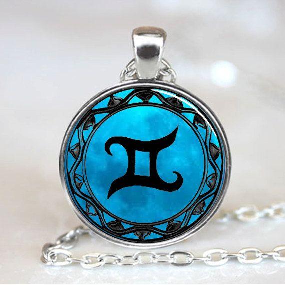 Gemini Blue Moon Zodiac Symbol Pendant Gemini by wizardofcharms, $9.50
