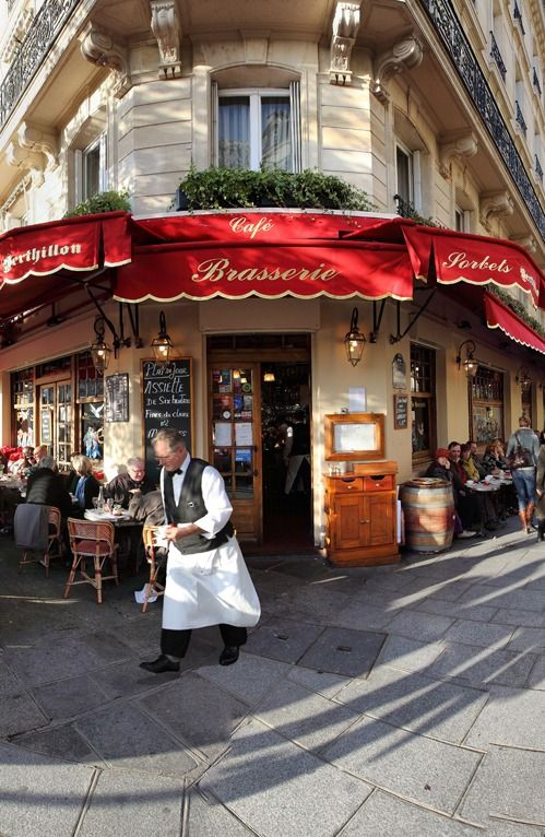 Brasserie I'le Saint Louis in Paris, France -~ great views of the Seine and classic food and service