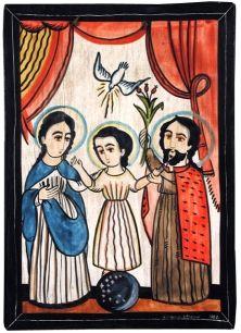 The Holy Trinity (La Santisima Trinidad), 1983  Charlie M. Carrillo  National Hispanic Cultural Center Art Museum