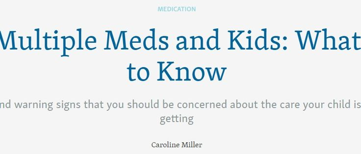 Is it safe for a child to take more than one psychotropic medication? | Child Mind Institute
