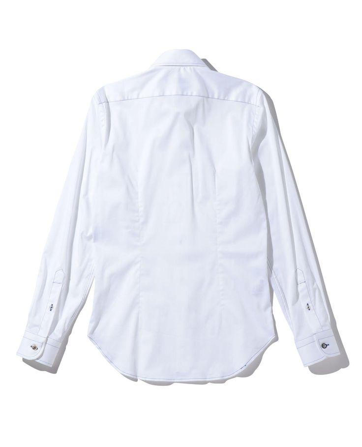 【MEN'S】コットンストレッチマルチカラーボタン仕様長袖シャツ(1サイズ(S) ホワイト): ナラカミーチェ|ナラ カミーチェ公式オンラインストア NARACAMICIE