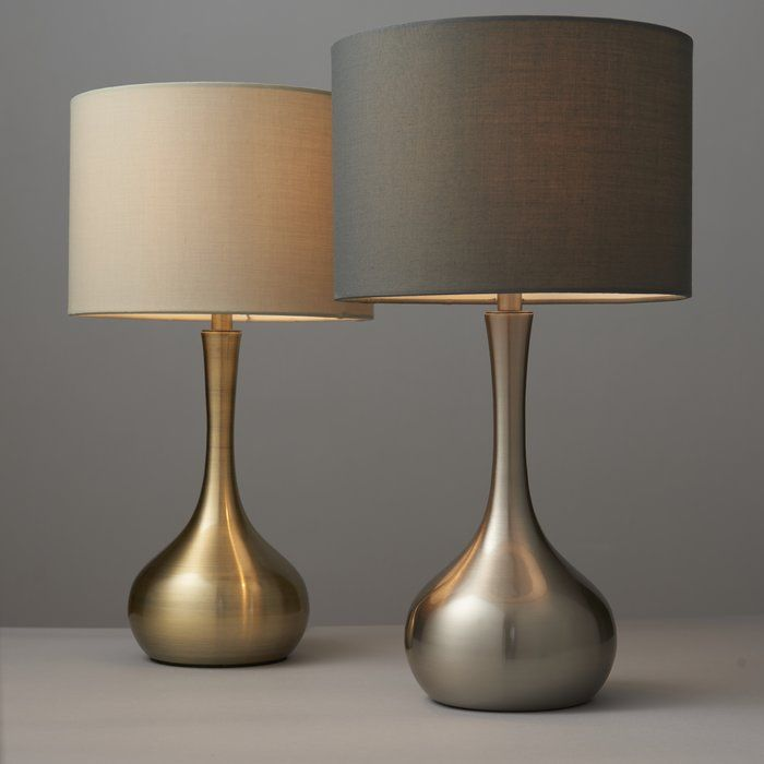 Beautiful Silver Table Lamps Living