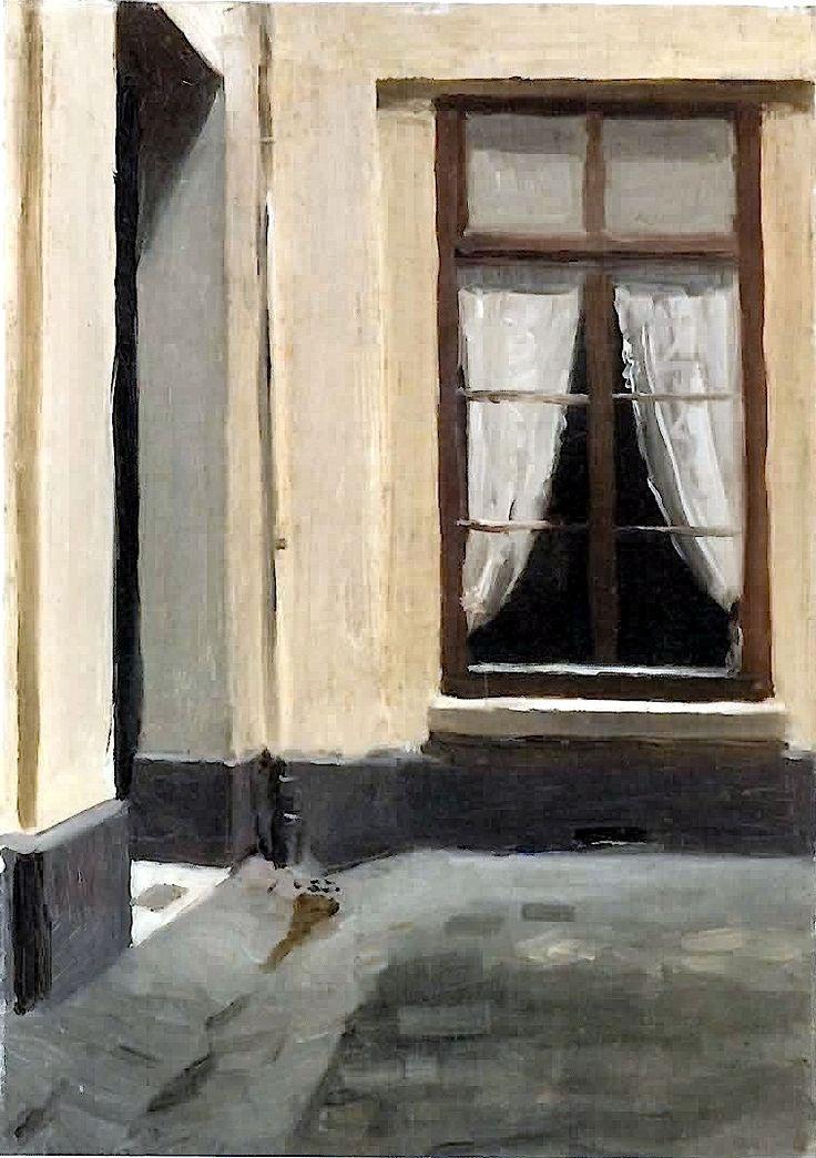 birdsong217:  bofransson: Edward Hopper - Interior Courtyard at 48 rue de Lille, Paris (1906)