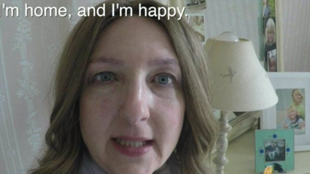 Emotional Victoria Derbyshire celebrates end of chemotherapy with a cup of tea and her kids