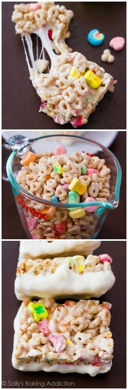 How To White Chocolate Lucky Charms Treats
