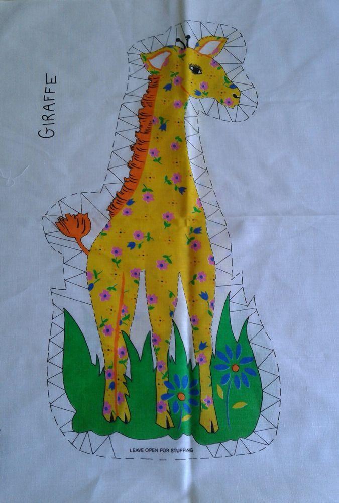 Vintage Giraffe Fabric Panel Cut N Sew Ebay Stuffed Animal