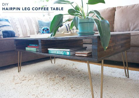 DIY hairpin leg coffee table tutorial. And, it has storage! - 25+ Best Ideas About Hairpin Leg Coffee Table On Pinterest Diy