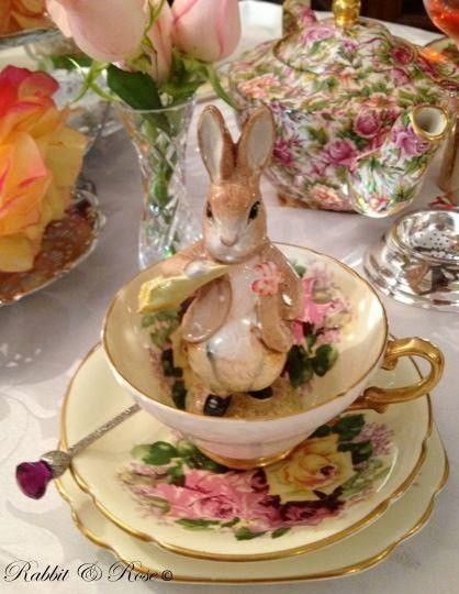 Easter Tea Table