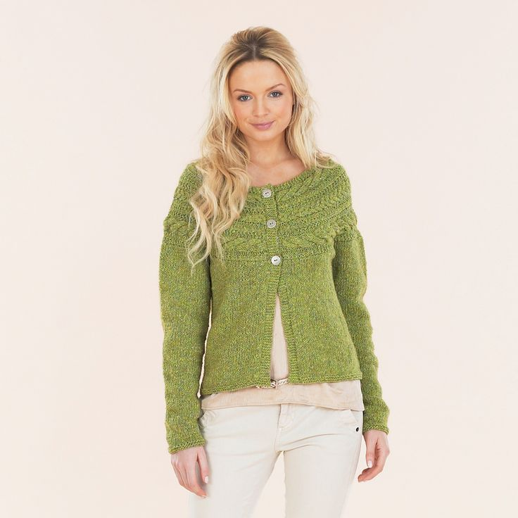 The Sublime Boho Girl cardie from the Luxurious Aran Tweed hand knit book