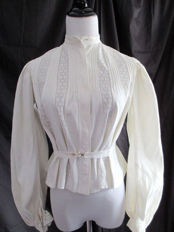 Antique 1890's early 1900's shirtwaist by vintageboxofdelights, $60.00