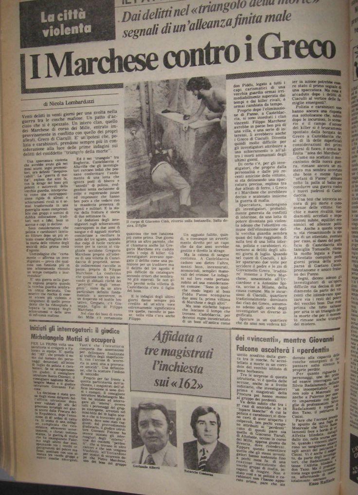 26 agosto 1982, L'Ora