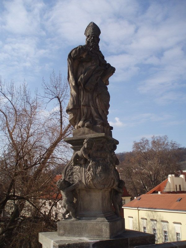 Photos of Charles Bridge South Side Statues: Statue of St. Adalbert on Charles Bridge - Photo of St. Adalbert Statue