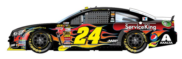 JEFF GORDON'S #24 PEPSI CAR(he did say 'he would retire IF HE WON THE CHAMPIONSHIP,he has 4 of 'em)
