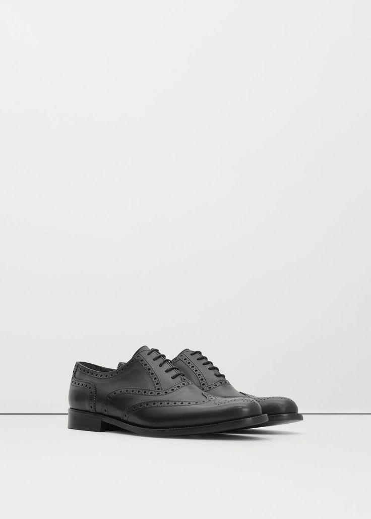 Кожаные туфли оксфорды | MANGO MAN 9 999