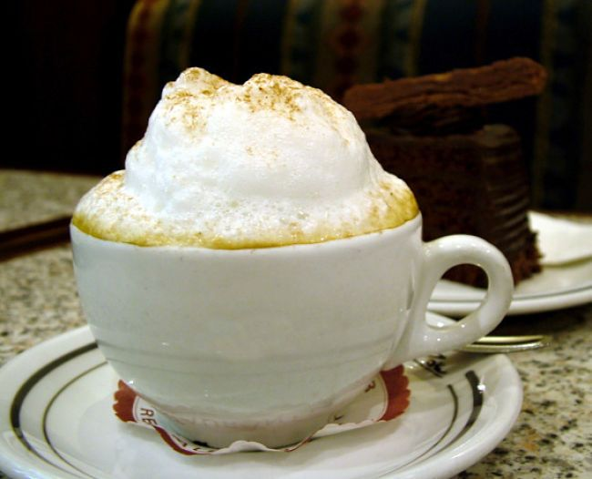The coffee varieties made mostly of milk can have extremely high calories, especially when sugar is added.
