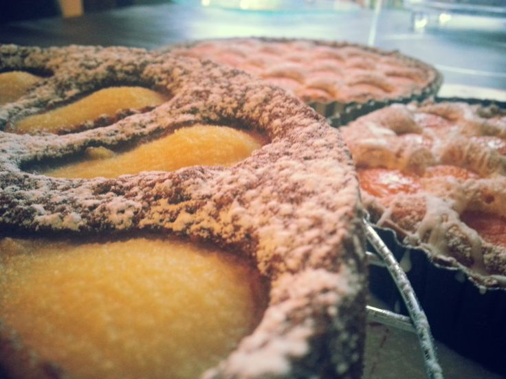 Chocolate Pear Torte; Apricot Frangipane