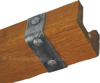 Faux Beam Straps Flexible Rubber With The Look Of Real