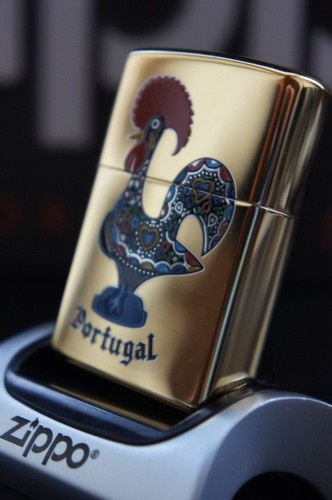 ZIPPO LIGHTER 24Ct GOLD PLATED EXTREMELY RARE GOLDEN COCKRELL OF PORTUGAL  RARE…