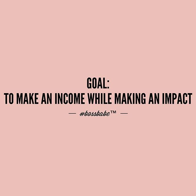 Making an impact while making money