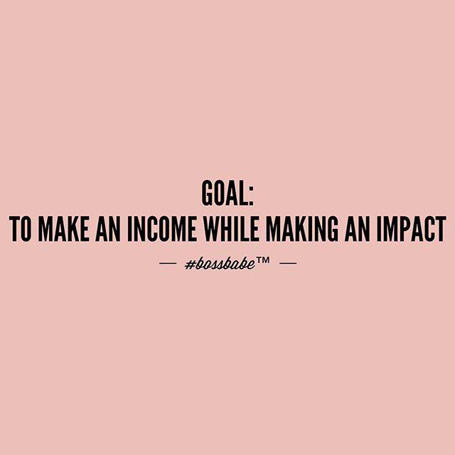 Making an impact while making money