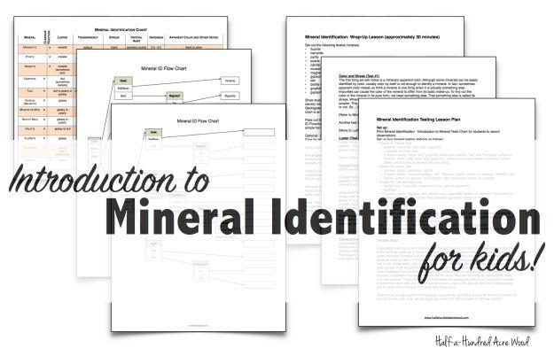 Mineral Identification Stations Flowchart Half A