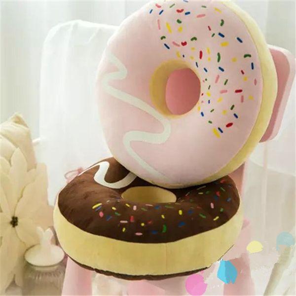 mode chocolade donuts cookie kussen kussen pluche kussen kussen bank schattige brood donuts gooien kussen zitkussen dutje geschenken