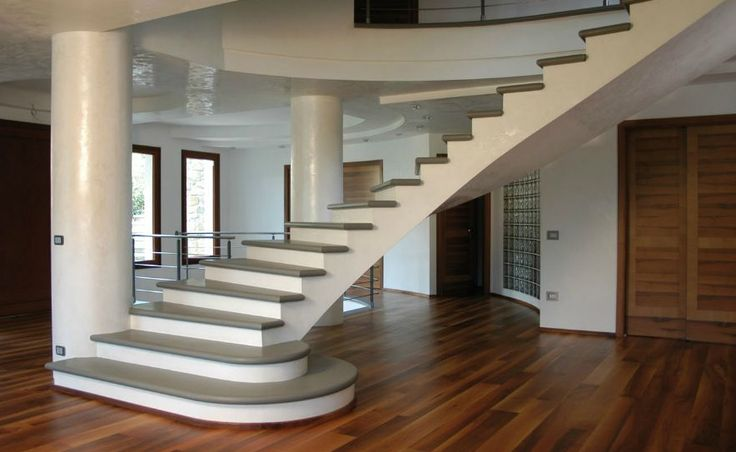 Escalera moderna y elegante decoraci n de casa pinterest for Ver escaleras de interior
