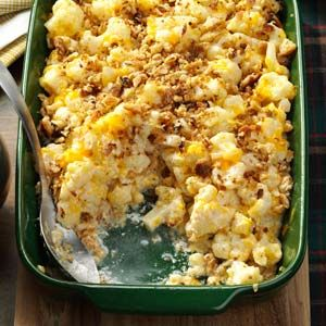 Christmas Cauliflower Casserole Recipe from Taste of Home -- shared by Carol Rex of Ocala, Florida