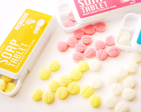 Japanese soap tablets. These would be so convenient!