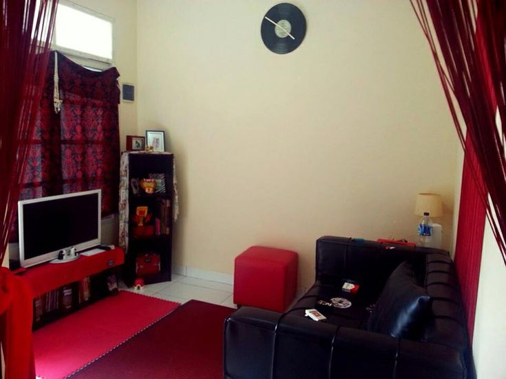 My red living room in my little private home