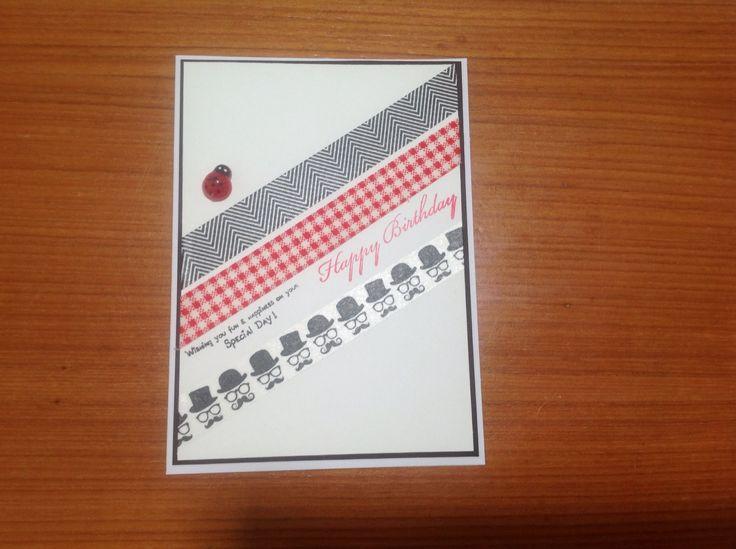Birthday card using washi tape