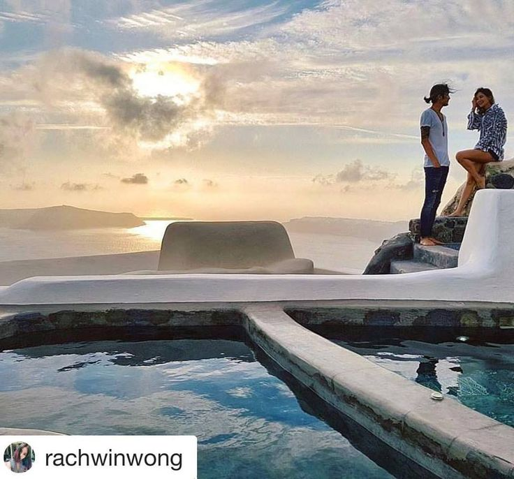 #Repost @rachwinwong ・・・ Sometimes the biggest questions are answered with simple action ... :) @artiwara . Thx to @sophialuxurysuites for capturing the best moment for us 💙🌅 #santorini #ktsjourney #rachwinscapture