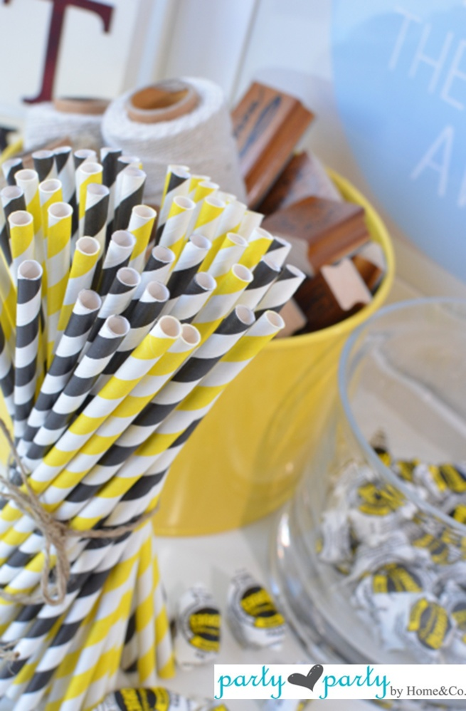 Yellow paper straws!