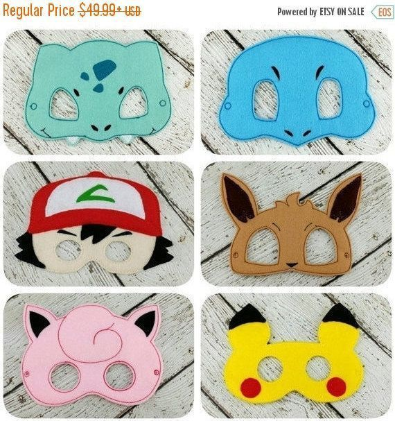 Sale Pokemon Inspired Party Pack By Twinmonkeyembroidery Poke