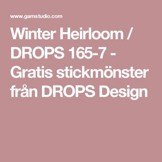 Winter Heirloom / DROPS 165-7 - Gratis stickmönster från DROPS Design