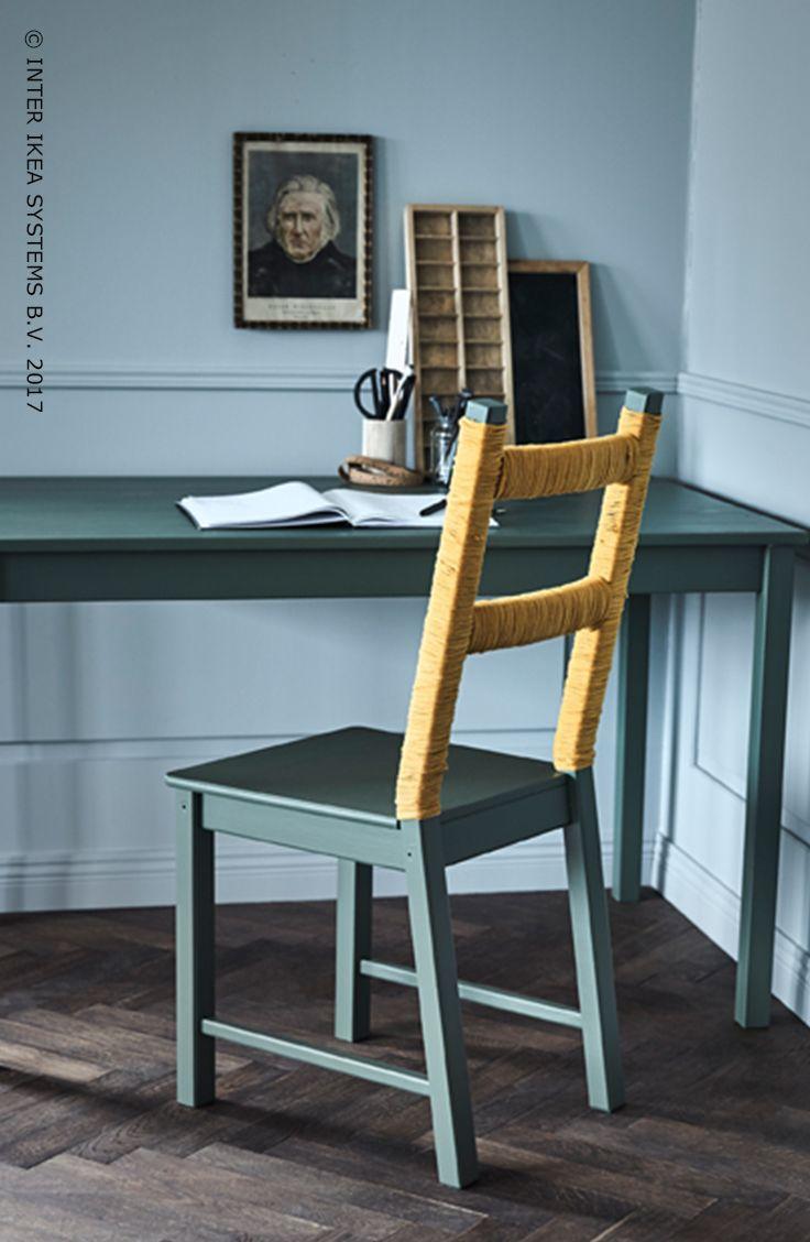 Je interieur nieuw leven inblazen? Dat is zo gebeurd! Stimuleer je creatieve knobbel en geef je oude stoel een instant-opfrisbeurt met wat verf en lint. Je 'nieuwe' stoel zal niet enkel praktisch maar ook super modern ogen! Ontdek onze ideeën om je interieur een persoonlijk tintje te geven. IVAR stoel, 19,99/st. #IKEABE #IKEAidee  Want to breathe some new life into your home? It's done in a heartbeat! Flex your creative muscles and give your old chair an instant refresh with some paint and…