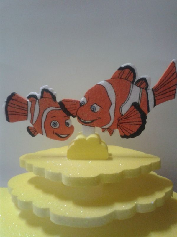 Tortera en icopor para una fiesta de Nemo. #FiestasInfantiles