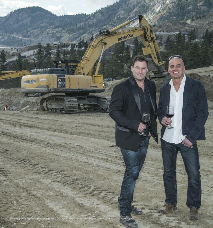 Jason Pechet, left, and Mohamed Awad, manager of Skaha Hills Winery and Vineyard. http://www.calgaryherald.com/life/Vineyard+dreams/9914921/story.html