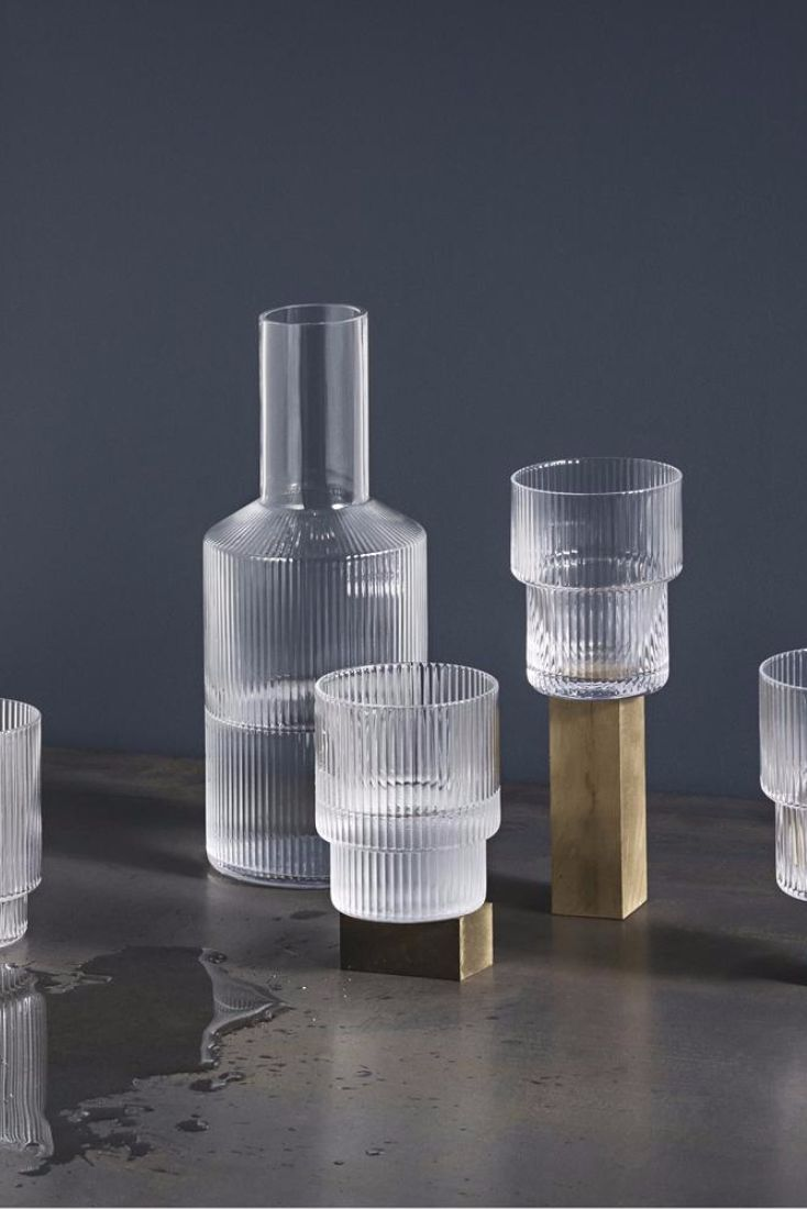 Ripple Carafe and Glass Set By Trine Andersen for Ferm Living