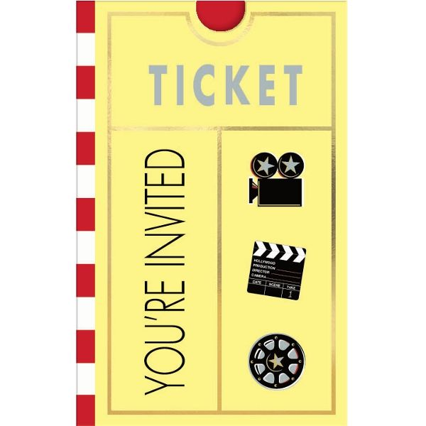 Invitations for your Oscar viewing party   Wally's Party Factory #hollywood #invitation