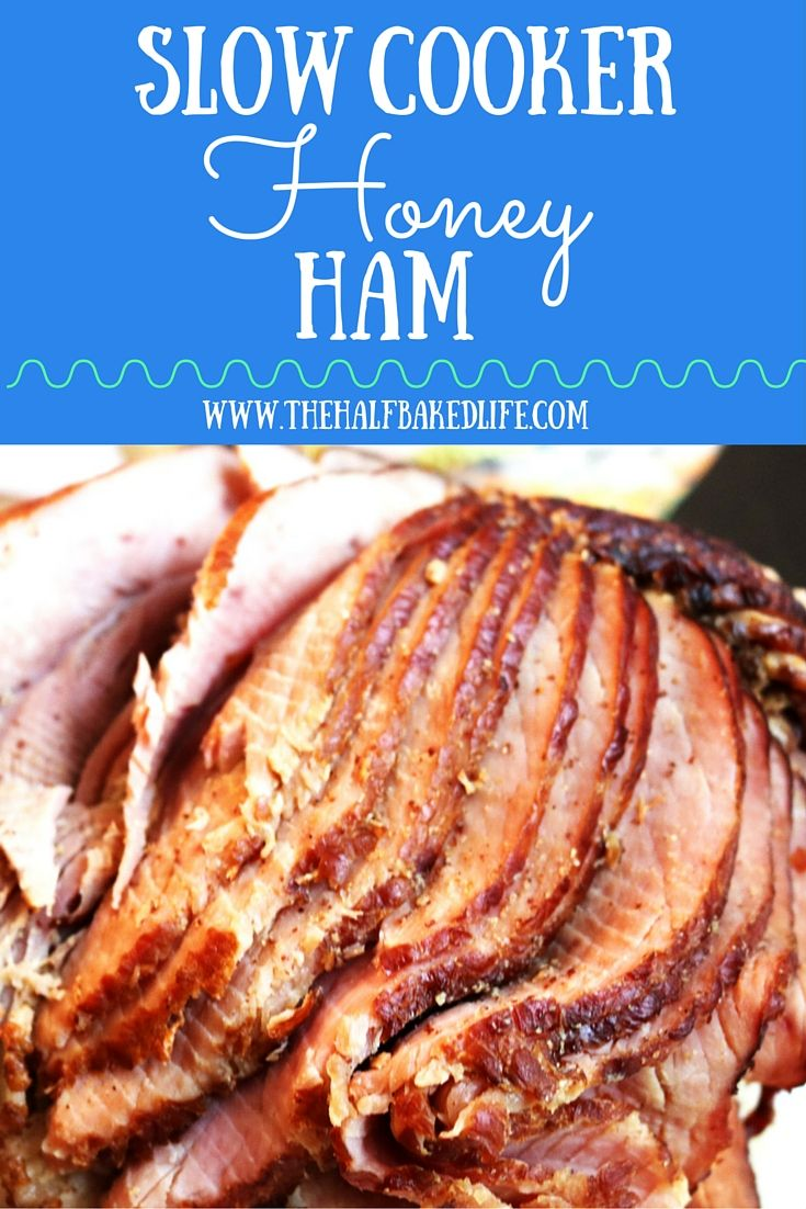 This slow cooker ham is perfect for Easter or any spring time get together.  It is super tender with just a hint of sweet and it is all made in the slow cooker!!