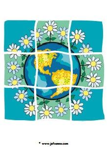 Juf Sanne: puzzel aarde Kinderboekenweek 2012