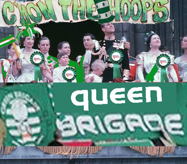 C'mon the Hoops! Best wishes from the Queen Brigade, Windsor.