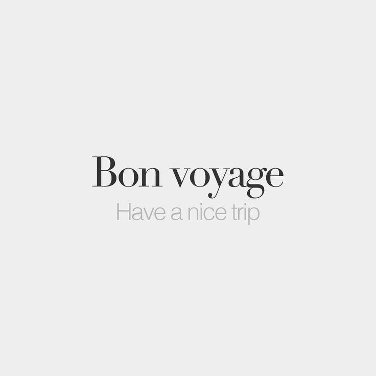 Bon voyage (literally: good trip) | Have a nice trip | /bɔ vwa.jaʒ/