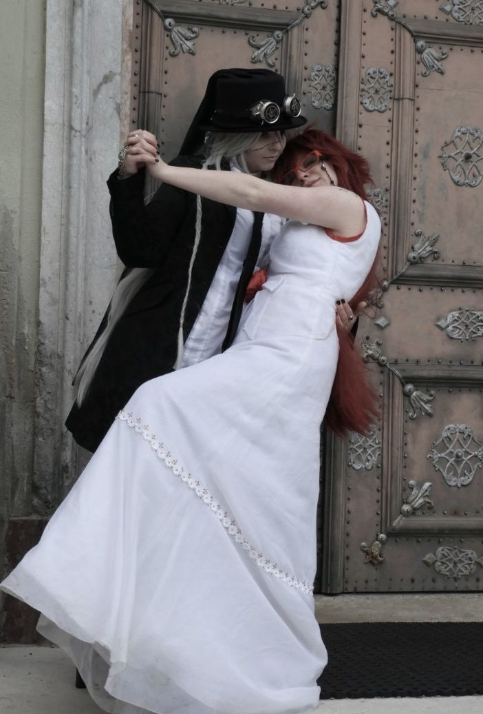 Just one last dance - Grell + Undertaker by MadameRubina
