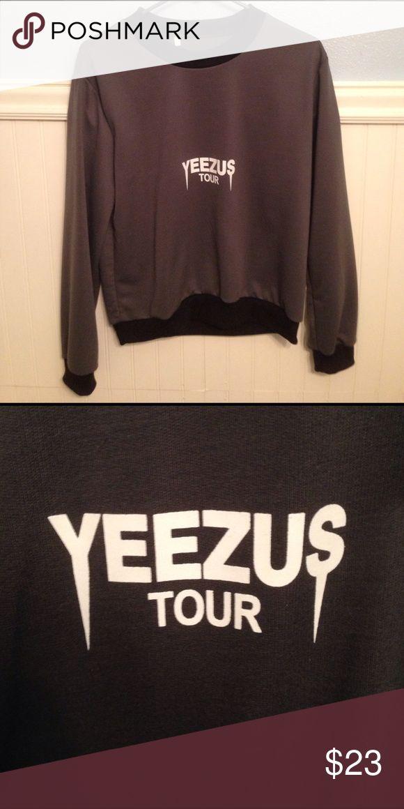 Yeezus Tour Shirt/Sweater Dark gray with black lining from Kanye West's Yeezus Tour. Women's medium. Pre-shrunk. Yeezy Tops