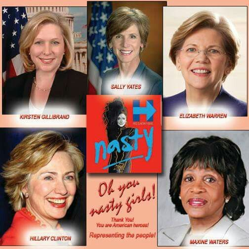 Thanks fake president. Outstanding women in the forefront of justice!. By Donald Tromp is not my Predidrnt Group. 30.01.17