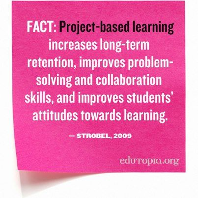 Learn more about PBL, what research says about it, and how you can bring it to your classroom: http://edut.to/THVReU.